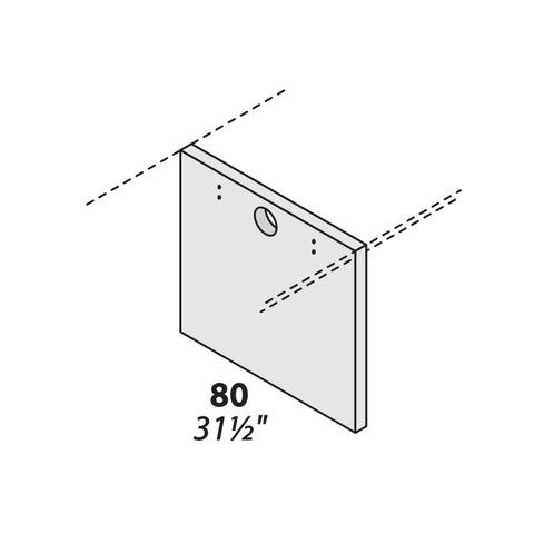 Опора для двух столешниц центральная (дсп) 800 мм LOGIC