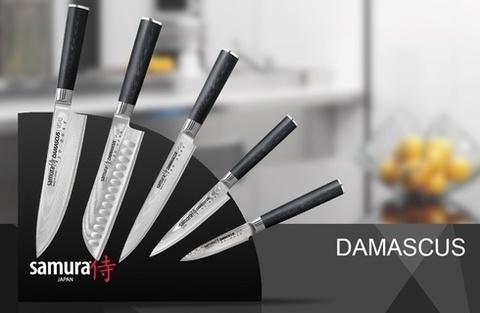 Набор из 5-ти кухонных ножей с магнитной подставкой Samura Damascus, арт. SKD-006/K