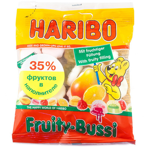 """Мармелад """"Haribo"""" жевательный Fruity Bussi 100г"""