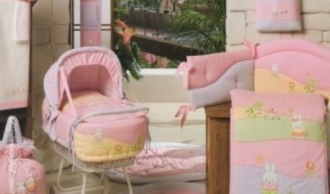 """03R.155BW_VE Комплект для кроватки """"Акварели"""" из коллекции """"4 времени года """" в  чемодане (стандарт)"""