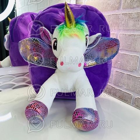 Рюкзак детский Единорог плюшевый (цвет: фиолетовый)