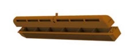 Оконный проветриватель ПО 400 коричневый (приточный клапан)