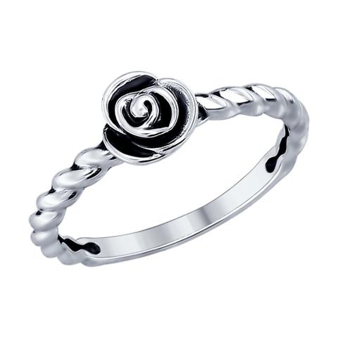 95010079 - Кольцо из серебра с чернением в стиле PANDORA