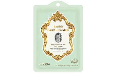 Омолаживающая маска с экстрактом улитки Frudia Royal de Snail Green Mask