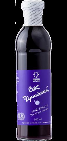 Живые соки сок черничный 0,5л