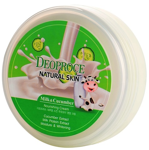 DEOPROCE NATURAL SKIN Крем для лица и тела DEOPROCE NATURAL SKIN NOURISHING CREAM MILK CUCUMBER 100g 100гр