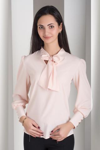 Маркиза. Красивая блуза с бантом. Пудра