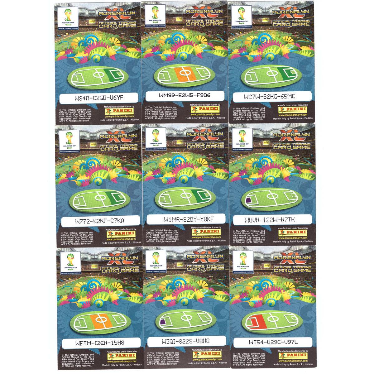 Спортивные карточки. Футбол. Базовый сет 206 шт. PANINI Чемпионат Мира 2014. Adrenalyn XL