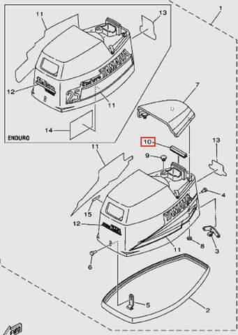 Уплотнитель для лодочного мотора Т30 Sea-PRO (1-10)