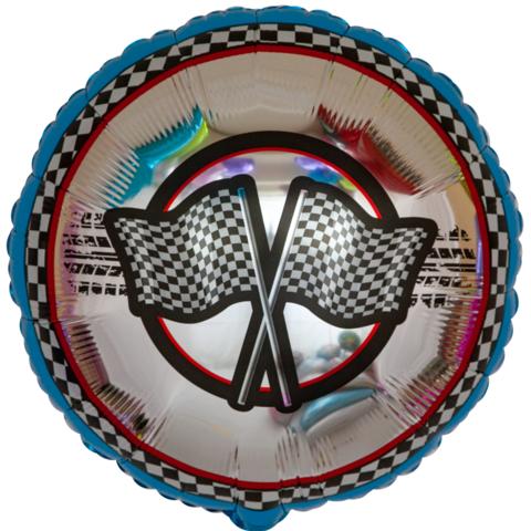Шар круг Ралли, флажки, 45 см
