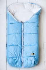 Зимний на выписку для новорождённых КВ1041 голубой