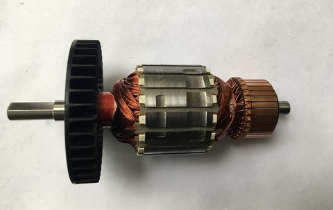 Ротор (Якорь) MAKITA UC4030A, 4530A, 3530A (L-165.5 мм, D-54 мм, вал усеченный круг 8.5 мм)