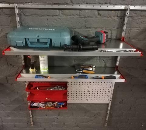 Набор №10 Металлические полки для хранения инструментов, перфопанель
