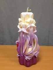 Резная свеча Лебедь с бантами 17 см