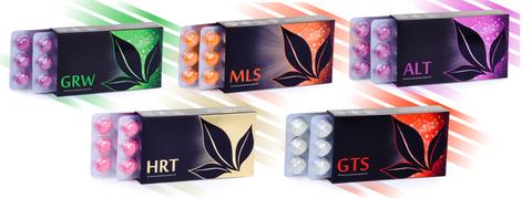 APL. Набор драже 9 коробок  GRW+MLS+ALT+HRT+GTS для укрепления иммунитета и повышения тонуса