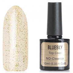 Bluesky, Топ для гель-лака с золотыми блестками, 10 мл