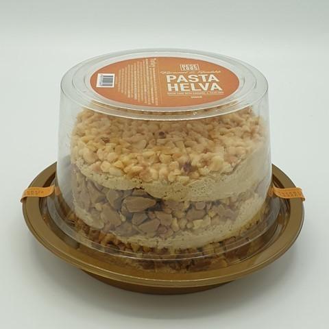 Халва (торт) тахинная с фундуком и карамелью PASTA HELVA, 550 гр