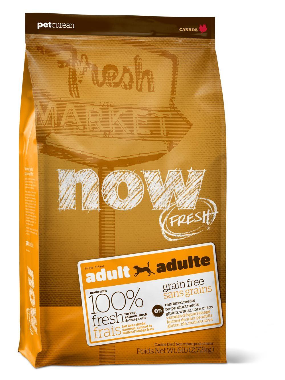 Сухой корм Беззерновой корм для взрослых собак, NOW FRESH, с индейкой, уткой и овощами 2700_11.jpg