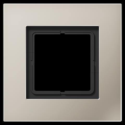 Рамка на 1 пост. Цвет Нержавеющая сталь. JUNG LS PLUS. LSP981ES