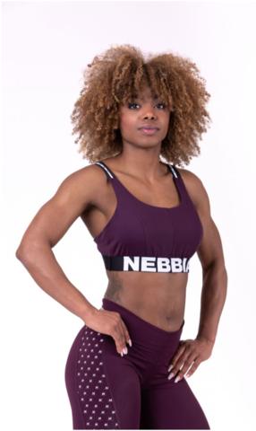 Женский топ Nebbia airy straps sport bra 693 burgundy