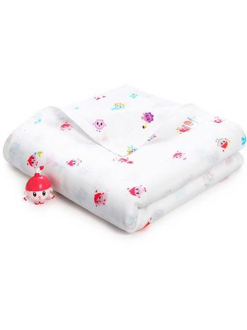 Четырехслойное муслиновое одеяло Adam Stork Малышарики