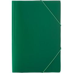 Папка на резинках Attache Economy A4 пластиковая зеленая (0.45, до 200 листов)