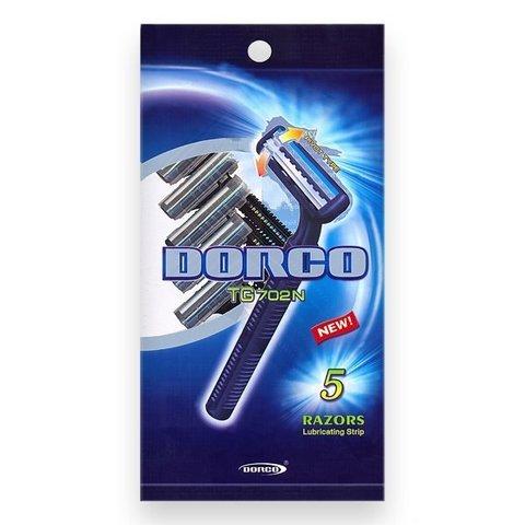 Dorco TG-702 Одноразовые станки для бритья с 2 лезвиями 5шт