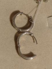 Конго 2,2 см. двусторонние (серьги из серебра)