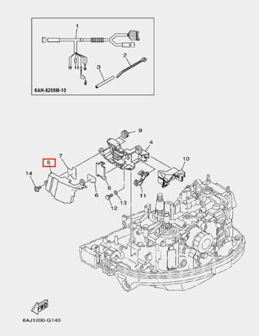 Кожух для лодочного мотора F20 Sea-PRO (14-5)