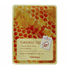Tony Moly Propolis Mask Sheet Pure Energy 100 - Маска для проблемной кожи лица с экстрактом прополиса