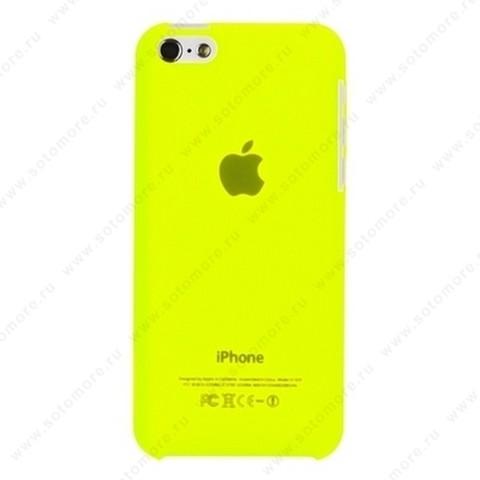 Накладка XINBO пластиковая для iPhone 5C толщина 0.3 мм лимонная