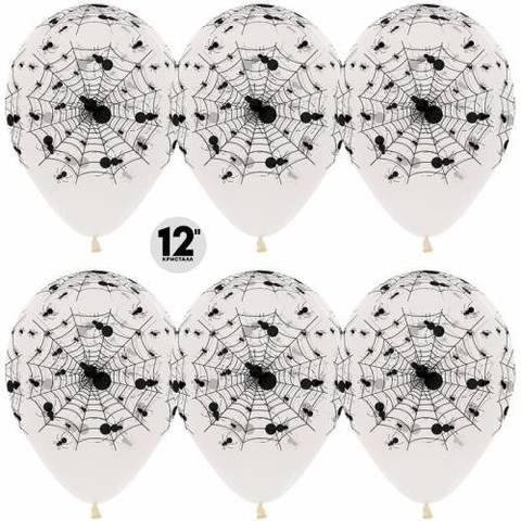 Воздушные шары Пауки прозрачные