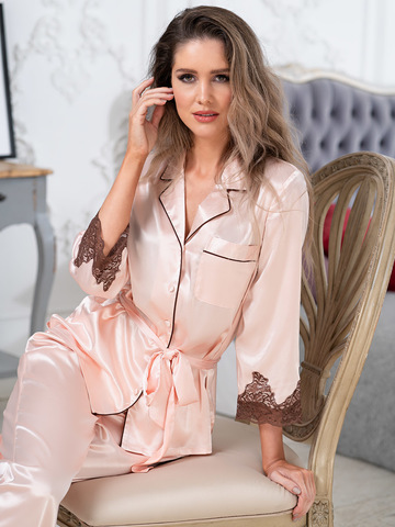 Комплект шелковый с брюками Mia-Amore  MARILIN Мэрилин  3156