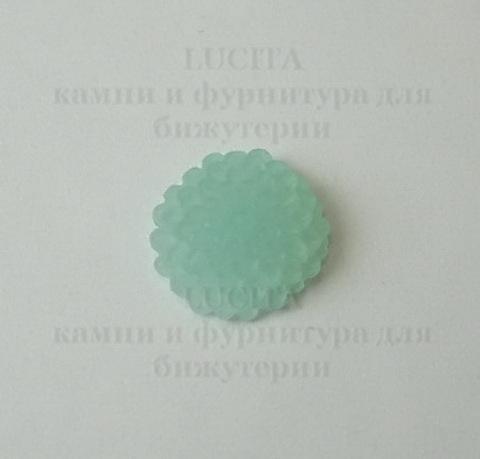 """Кабошон акриловый бирюзовый """"Винтажная роза"""", 10х4 мм ()"""