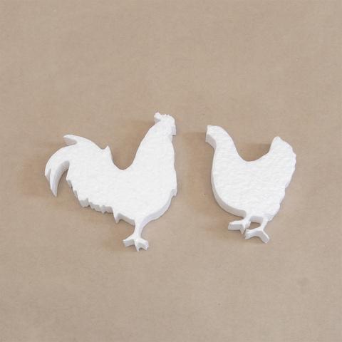 Петух и курица из пенопласта