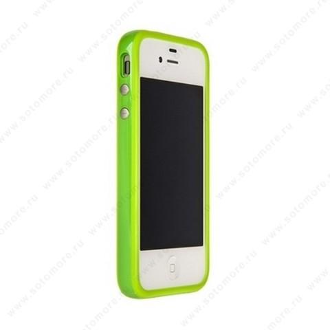 Бампер Apple для Apple iPhone 4s/ 4 Bumper, цветное яблоко на упаковке, салатовый