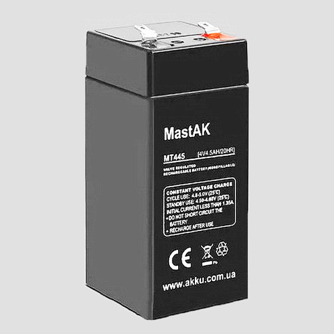 Аккумуляторы MastAk 4V 4,5A
