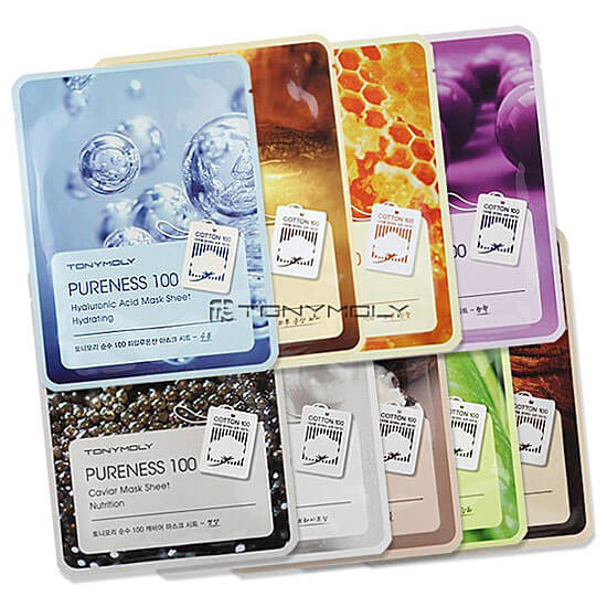 Тканевые Маски (Tony Moly Pureness 100 Mask Sheet)