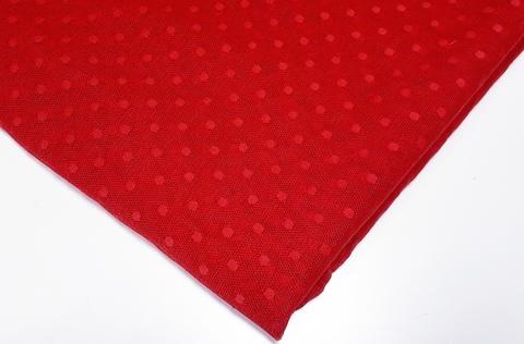 Эластичная сетка с мушками, красный (Арт: ESМ-100)