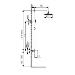 Душевая система KAISER Cezar 05182 с термостатом и изливом схема