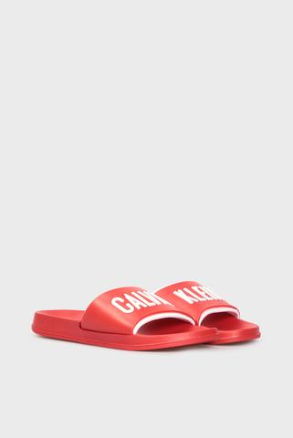 Мужские красные слайдеры Calvin Klein