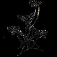 Подставка для цветов «ЛОТОС 4» (черный)