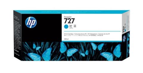 Картридж струйный HP F9J76A (727), голубой