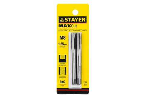 STAYER M8х1.25, комплект метчиков, 2 шт