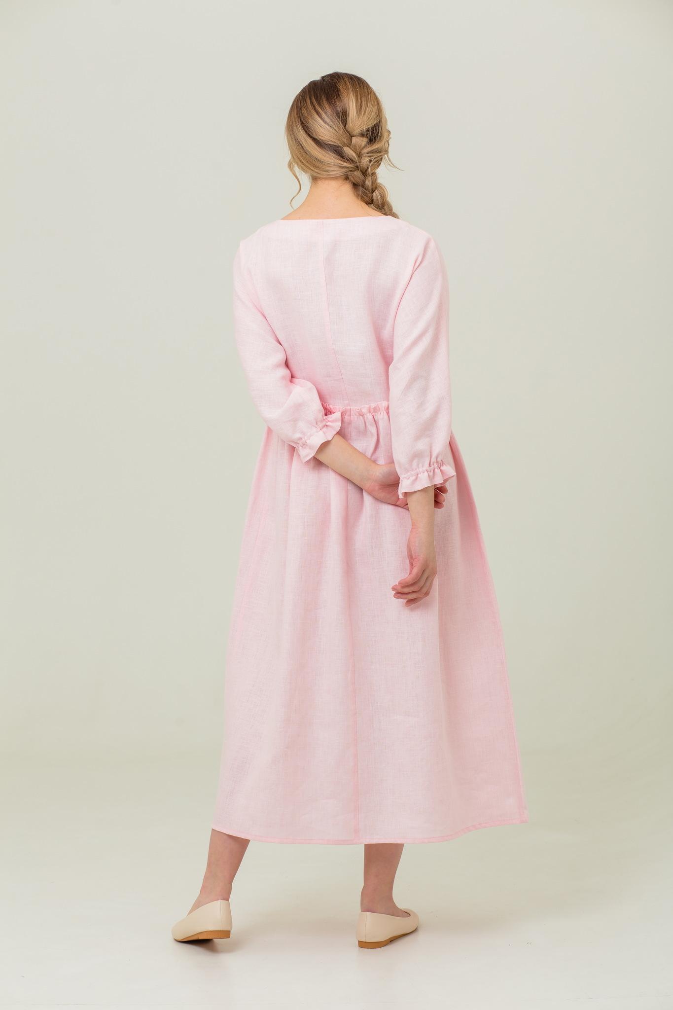 Платье из льна от производителя Цветущий шиповник