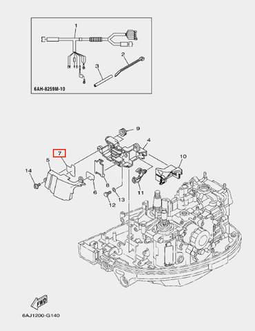 Защита кожуха для лодочного мотора F20 Sea-PRO (14-7)