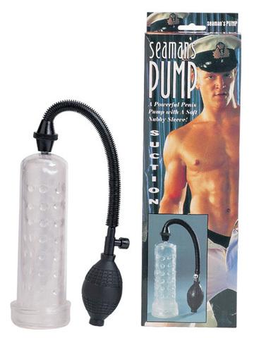 Вакуумный массажер-помпа для мужчин Seaman с силиконовой вставкой