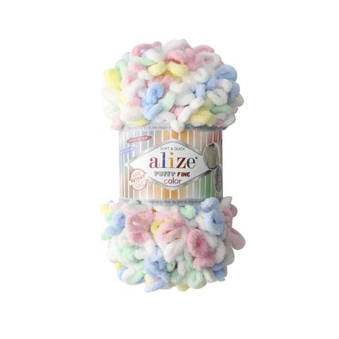 Купить Пряжа Ализе Пуффи Файн Колор Код цвета 5949 | Интернет-магазин пряжи «Пряха»
