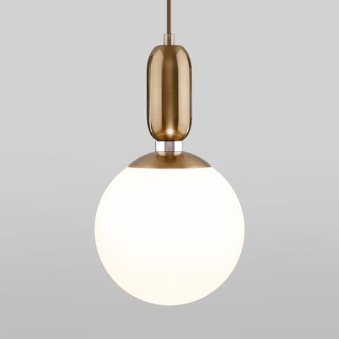 Подвесной светильник со стеклянным плафоном 50197/1 латунь