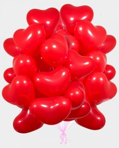 Воздушные шары сердца красные